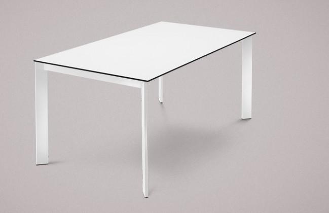Jídelní stůl Universe-130 - Jídelní stůl (lak bílý, lamino bílé)