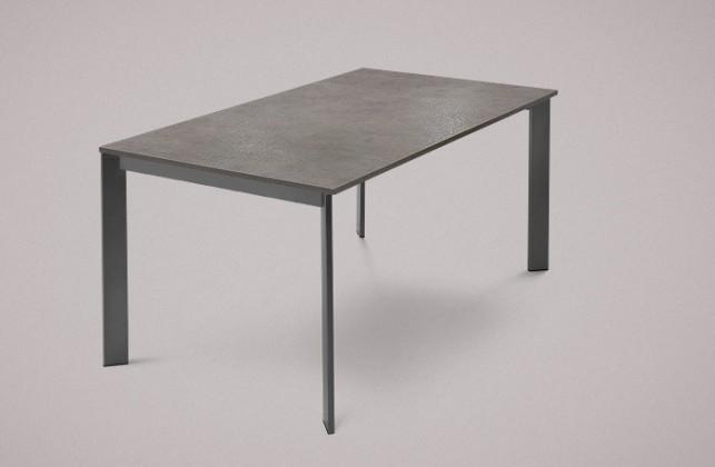 Jídelní stůl Universe-130 - Jídelní stůl (lak mat antracit, lam. šedobéžová)