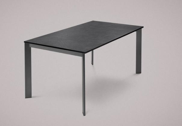 Jídelní stůl Universe-130 - Jídelní stůl (lak mat antracit, lamino břidlice)