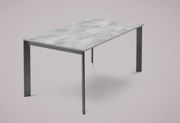 Jídelní stůl Universe-130 - Jídelní stůl (lak mat antracit, lamino cement)