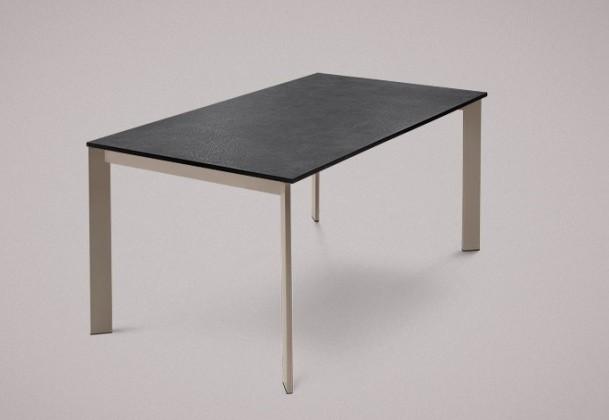 Jídelní stůl Universe-130 - Jídelní stůl (lak mat šedobéžový, lam. břidlice)