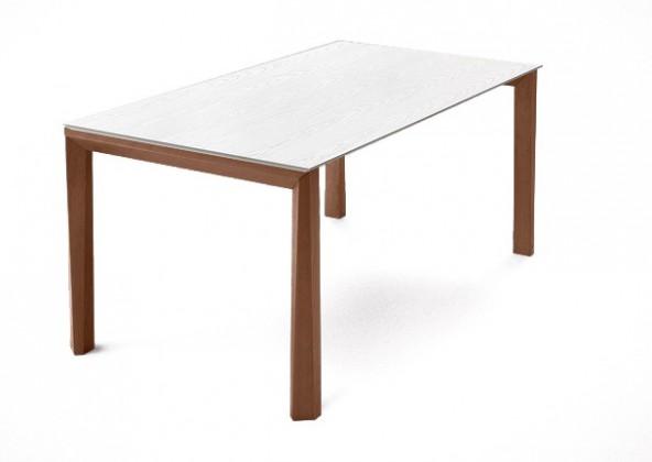 Jídelní stůl Universe-130 - Jídelní stůl (ořech, bílá mat struk.)