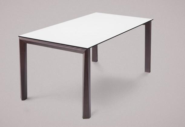 Jídelní stůl Universe-130 - Jídelní stůl (wenge, lamino bílá)