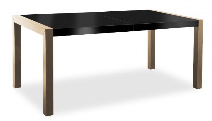 Jídelní stůl Vetro (deska černá/kostra dub)