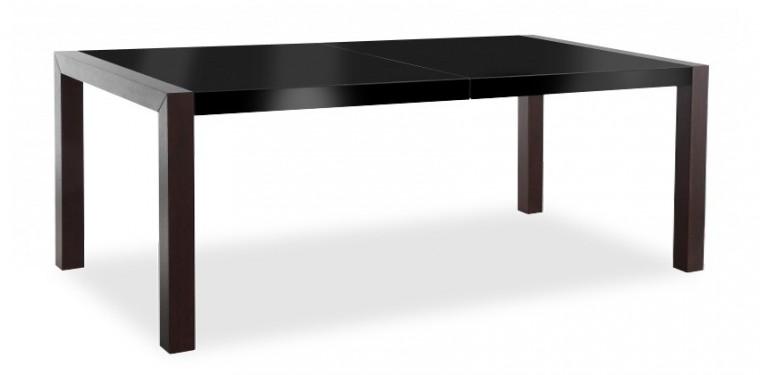 Jídelní stůl Vetro (deska černá/kostra wenge)