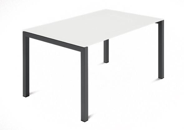 Jídelní stůl Web - 120 cm (kostra ocel antracit/deska leptané sklo bílé)