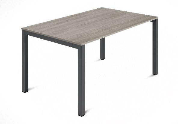 Jídelní stůl Web - 120 cm (kostra ocel antracit/deska melamin antický dub)