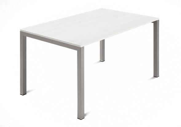 Jídelní stůl Web - 120 cm (kostra ocel písková/deska malamin textura bílá)