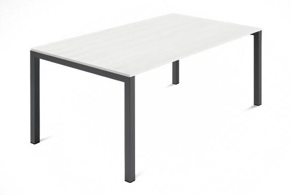 Jídelní stůl Web - 140 cm (kostra ocel antracit/deska malamin textura bílá)