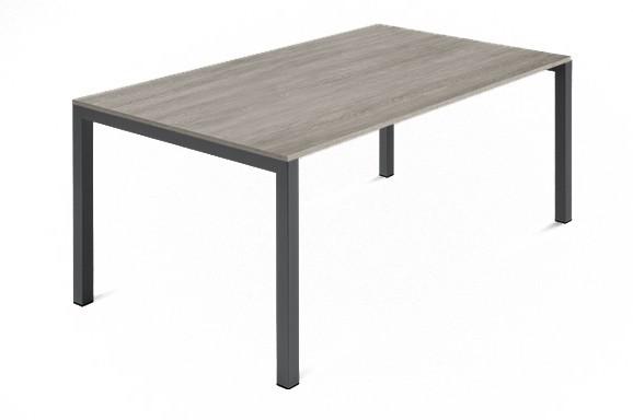 Jídelní stůl Web - 140 cm (kostra ocel antracit/deska melamin antický dub)