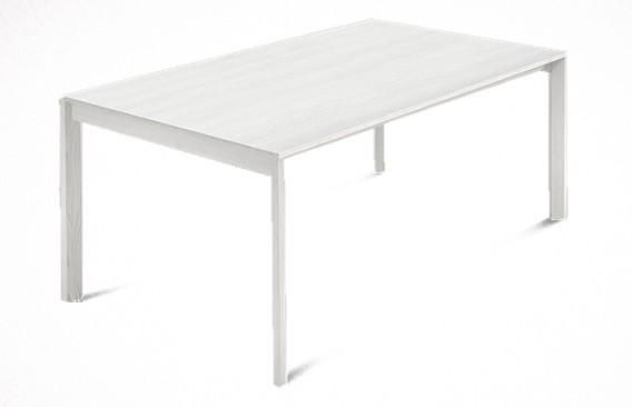 Jídelní stůl Web - 140cm (masiv textura bílá/malamin textura bílá)
