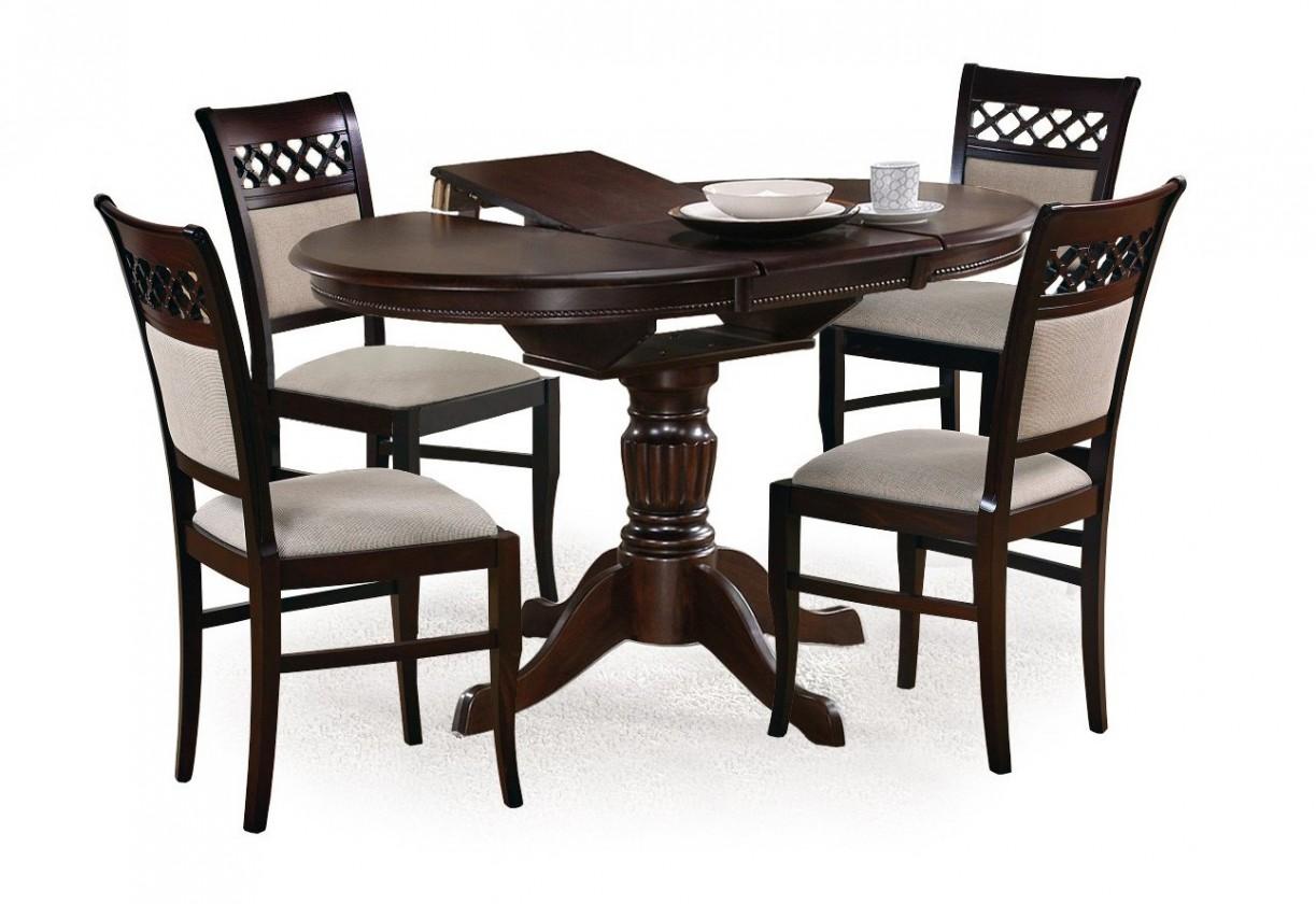 Jídelní stůl William - Jídelní stůl 90-124x90 cm (tmavý ořech)