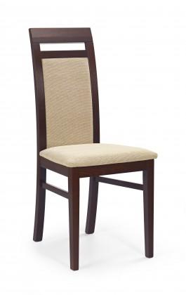 Jídelní židle Albert - jídelní židle (torent béžová, ořech tmavý)