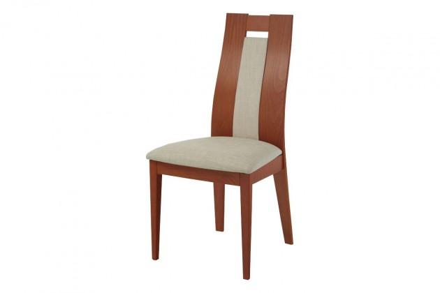 Jídelní židle ALBI(buk, moření ořech,potah krémový)