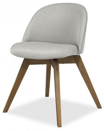 Jídelní židle ALLY 9368-207+BESS 9347-054 (sv.šedá,dub)