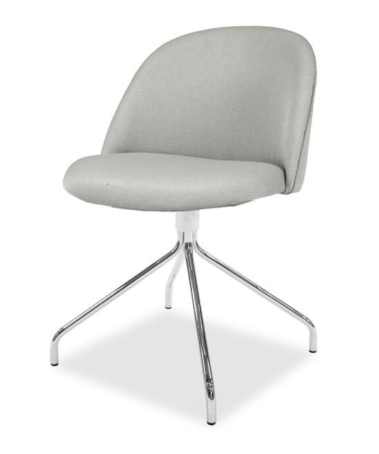 Jídelní židle ALLY 9368-207+EGO 9319-091 (sv.šedá,chrom)
