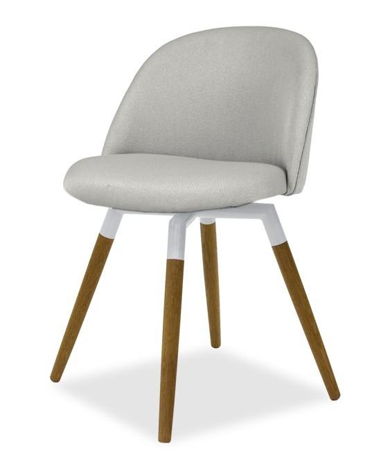Jídelní židle ALLY 9368-207+FIDO 9315-454 (sv.šedá,bílá,dub)
