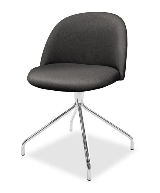 Jídelní židle ALLY 9368-215+EGO 9319-091 (antracit,chrom)