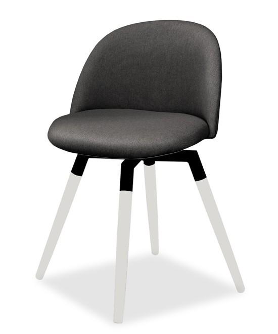 Jídelní židle ALLY 9368-215+FIDO 9315-101 (antracit,bílá,černá)
