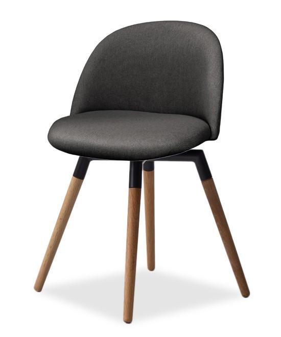 Jídelní židle ALLY 9368-215+FIDO 9315-154 (antracit,černá,dub)