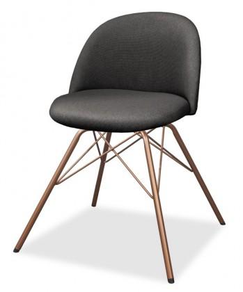 Jídelní židle ALLY 9368-215+PORGY 9346-889 (antracit,měď)