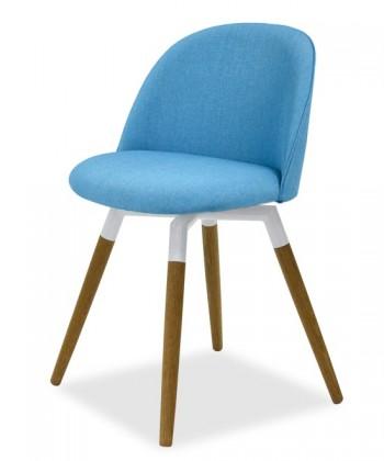 Jídelní židle ALLY 9368-220+FIDO 9315-454 (tyrkys,bílá,dub)