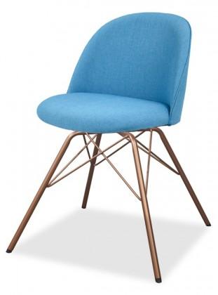 Jídelní židle ALLY 9368-220+PORGY 9346-889 (tyrkys,měď)