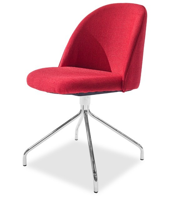 Jídelní židle ALLY 9368-228+EGO 9319-091 (červená,chrom)