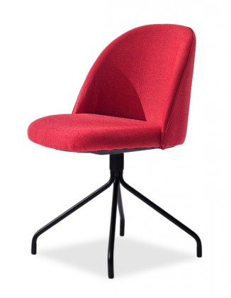 Jídelní židle ALLY 9368-228+EGO 9319-824 (červená,černá)