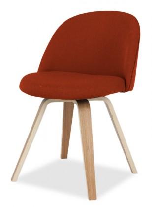 Jídelní židle ALLY 9368-228+ELLA 9348-054 (červená,dub)