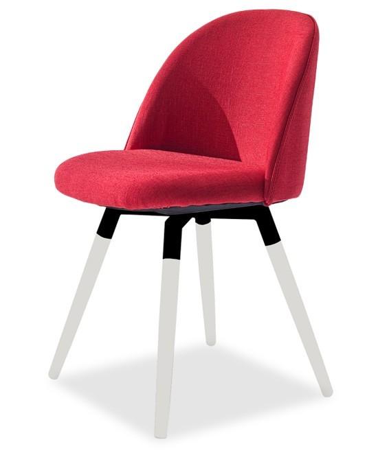 Jídelní židle ALLY 9368-228+FIDO 9315-101 (červená,bílá,černá)