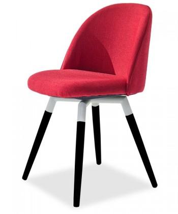 Jídelní židle ALLY 9368-228+FIDO 9315-424 (červená,bílá,černá)