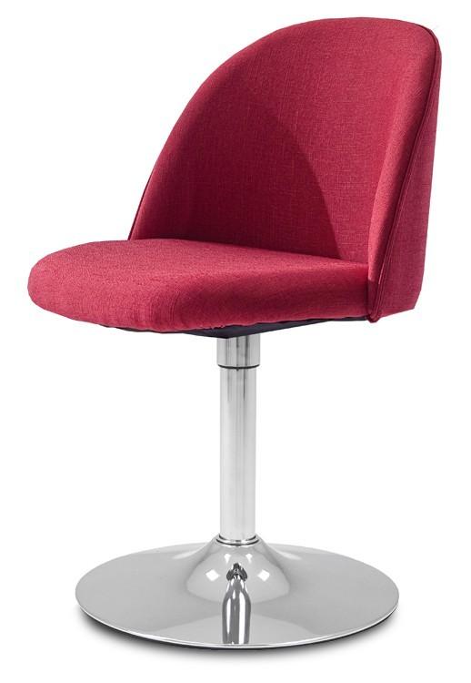 Jídelní židle ALLY 9368-228+TRUMPET 9341-091 (červená,chrom)