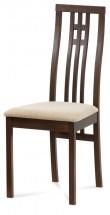 Jídelní židle Alora krémová, ořech