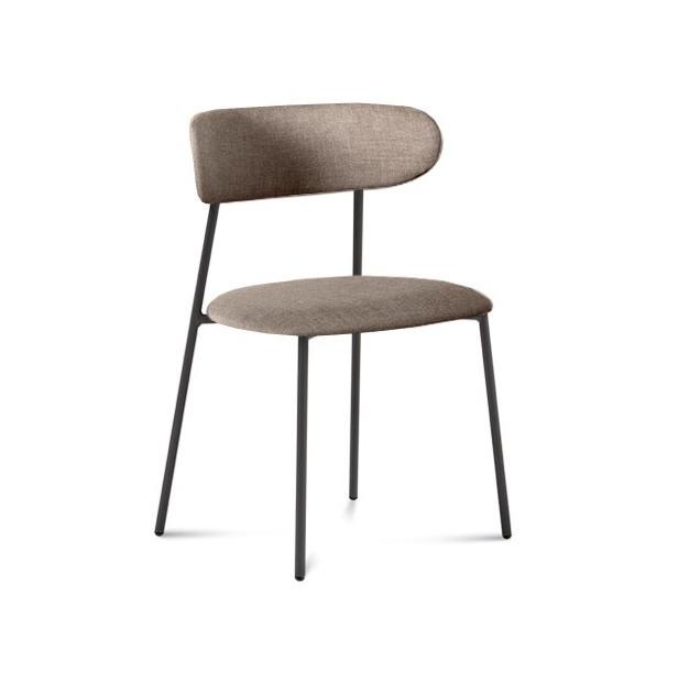 Jídelní židle Anais - Jídelní židle (lak antracit matný, látka písková)