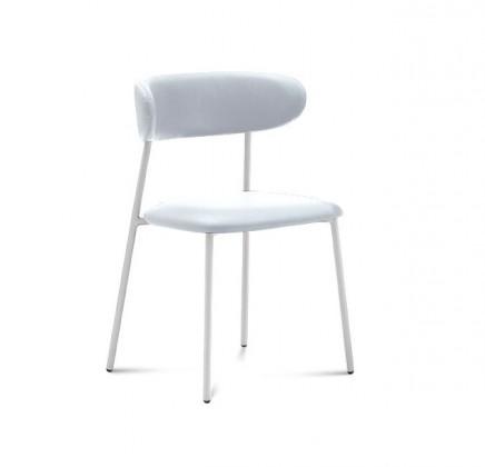 Jídelní židle Anais - Jídelní židle (lak bílý matný, eko kůže bílá)