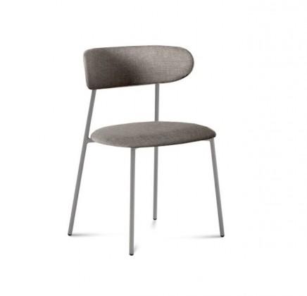 Jídelní židle Anais - Jídelní židle (lak pískový matný, látka písková)