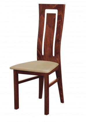 Jídelní židle Andre II - jídelní židle (dřevo - sołtysiak/potah - syntetická kůže)