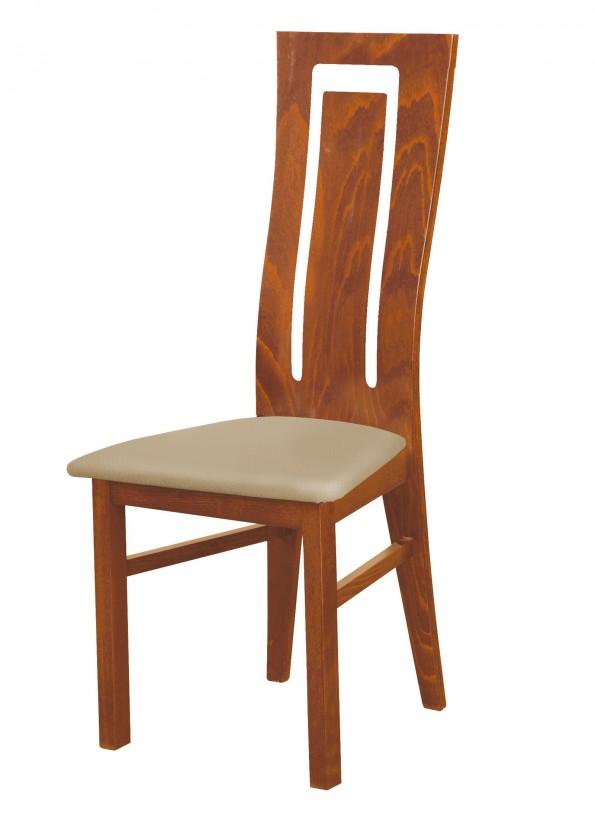 Jídelní židle Andre II - jídelní židle (dřevo - světlý ořech/potah - syntetická kůže)
