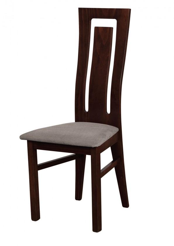 Jídelní židle Andre II - jídelní židle (dřevo - wenge/potah - látka)