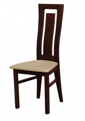 Jídelní židle Andre II - jídelní židle (dřevo - wenge/potah - syntetická kůže)