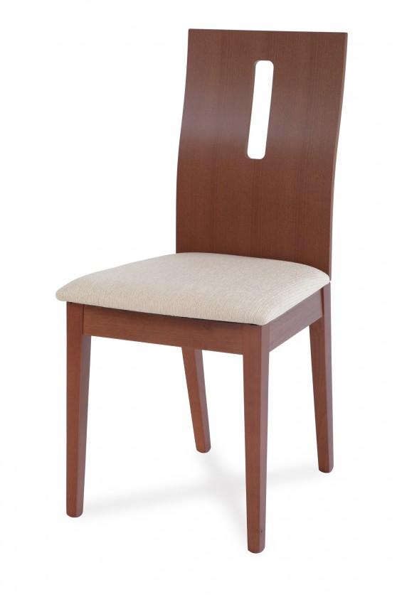 Jídelní židle ARBE(buk, moření třešeň,potah krémový)