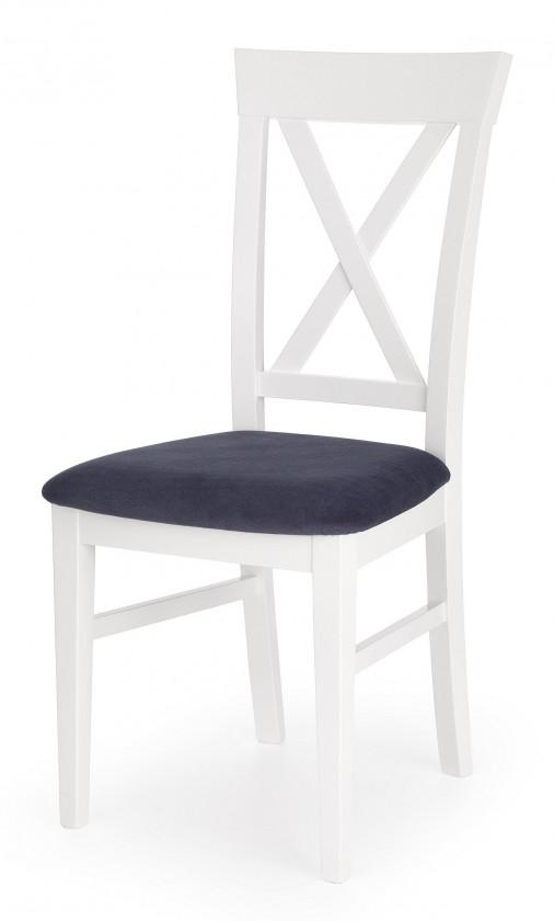 Jídelní židle Bergamo - Jídelní židle (masivní buk bílá, látka)