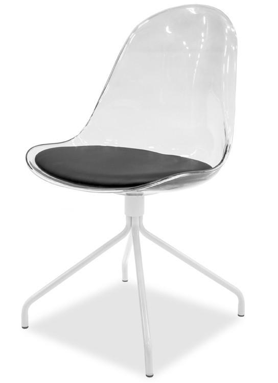 Jídelní židle Bonni 9302-800+EGO 9319-801 (transparentní,bílá)