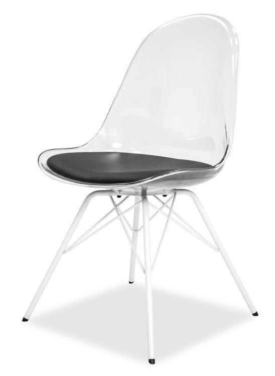 Jídelní židle Bonni 9302-800+PORGY 9316-801 (transparentní,bílá)