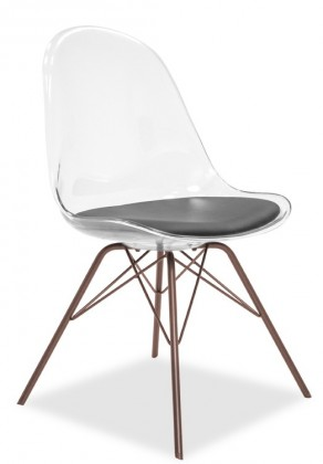 Jídelní židle Bonni 9302-800+PORGY 9316-888 (transparentní,bronz)