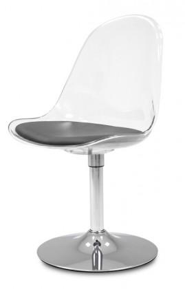 Jídelní židle Bonni 9302-800+TRUMPET 9341-091 (transparentní,chrom)