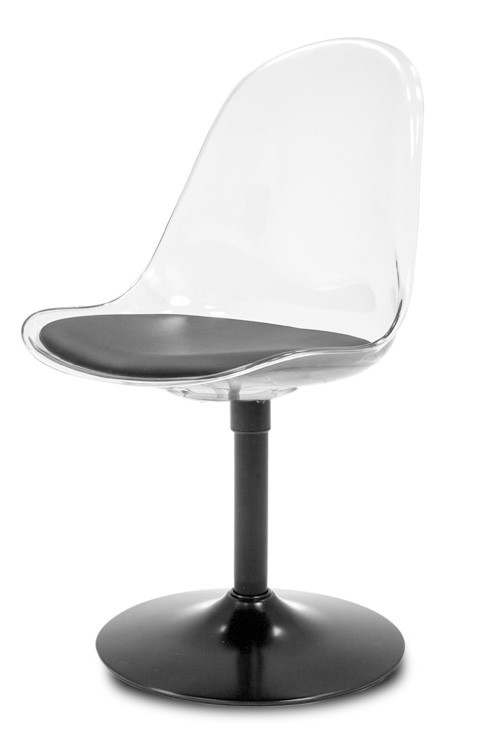 Jídelní židle Bonni 9302-800+TRUMPET 9341-824 (transparentní,černá)