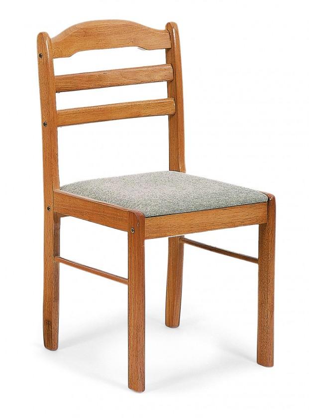 Jídelní židle BORORE(kaučukovník, moření dub,potah světlý)