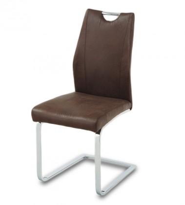 Jídelní židle Carol(hnědá/chrom)